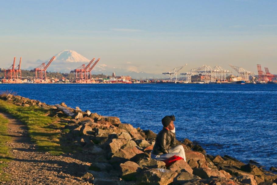 Centennial Park, Puget Sound, Salish Sea, Seattle, WA, USA, fotoeins.com