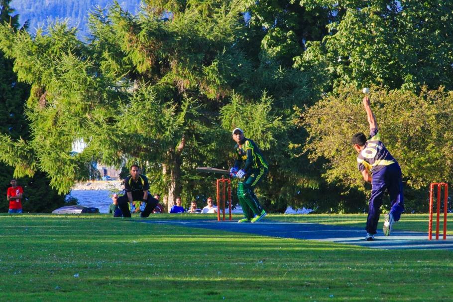 BCMCL, cricket, wicket, Brockton Oval, Brockton Pavilion, Stanley Park, Vancouver, BC, Canada, fotoeins.com