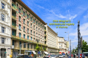 Wienzeilenhäuser, Majolikahaus, Linke Wienzeile 40, Musenhaus, Medaillonshaus, Linke Wienzeile 38, Otto Wagner, Vienna Modernism, Wiener Moderne, Wien, Vienna, Oesterreich, Austria, fotoeins.com