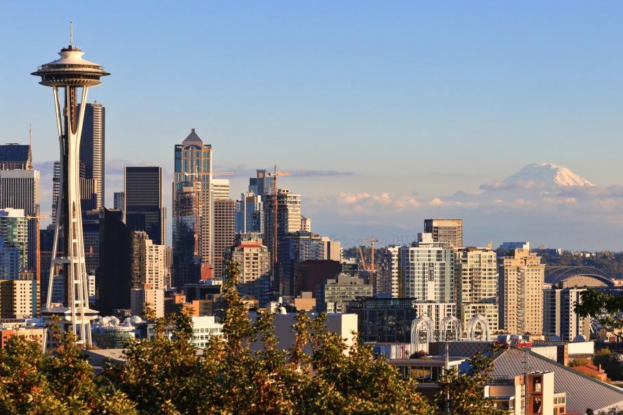 Kerry Park, Space Needle, Seattle, Washington, USA, fotoeins.com