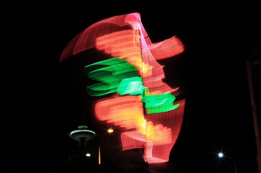 Elephant Car Wash, neon sign, Denny Triangle, Belltown, Space Needle, Seattle, Washington, USA, fotoeins.com