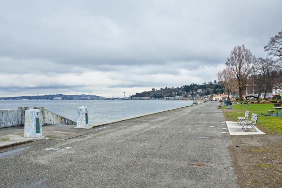 Alki Beach Park, Alki Beach, Alki, Puget Sound, Salish Sea, West Seattle, Seattle, Washington, USA, fotoeins.com