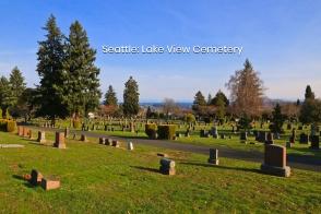 Lake View Cemetery, fall colours, autumn colours, Capitol Hill, Seattle, Washington, USA, fotoeins.com