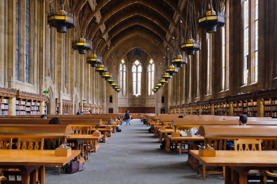 Suzzallo Library, Reading Room, University of Washington, Seattle, Washington, USA, fotoeins.com