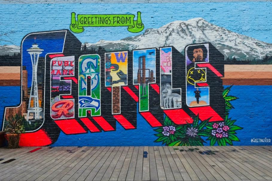 Greetings from Seattle, Greetings Tour, Bedlam, Block 41, Belltown, Seattle, Washington, USA, fotoeins.com