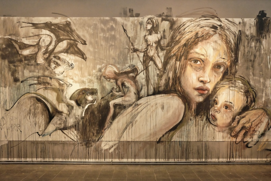 Herakut, Wahn|Sinn, Faust, Goethe, Museum of Urban and Contemporary Art, MUCA, Munich, Muenchen, Bayern, Bavaria, Germany, Deutschland, fotoeins.com