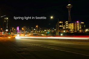 Queen Anne, Aurora Ave, Mercer St, Space Needle, Seattle, WA, USA, fotoeins.com