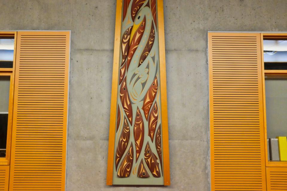 Susan Point, Blue Herons, TASC1, Simon Fraser University, Burnaby, BC, Canada, First Nations, fotoeins.com