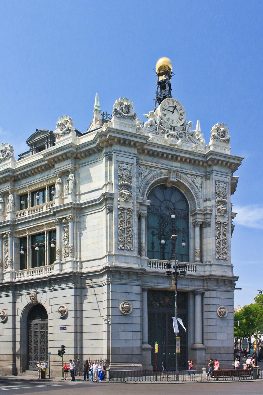 Banco de España, Plaza de Cibeles, Paseo del Prado, Madrid, Spain, España, fotoeins.com