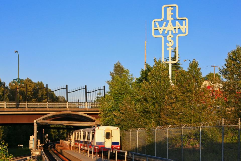 Monument to East Vancouver, Ken Lum, East Van, VCC-Clark, Millennium Line, SkyTrain, Vancouver, BC, Canada, fotoeins.com
