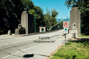 Lions Gate Bridge, south portal, Carlos Marega, Stanley Park Causeway, Stanley Park, Vancouver, BC, Canada, fotoeins.com