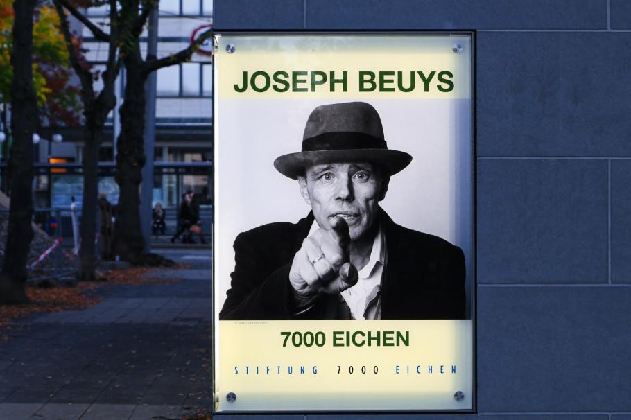 Joseph Beuys, 7000. Eichen, 7000 Oak Trees, documenta, Friedrichsplatz, Kassel, Hesse, Hessen, Germany, Deutschland, fotoeins.com