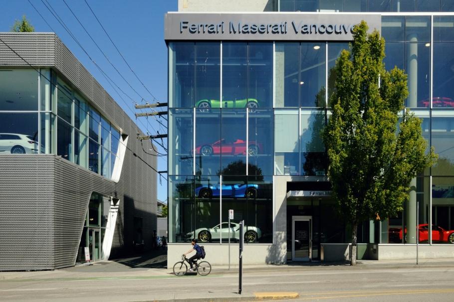 Ferrari-Maserati, Fairview, Kitsilano, Vancouver, BC, Canada, fotoeins.com, Ektachrome 100SW