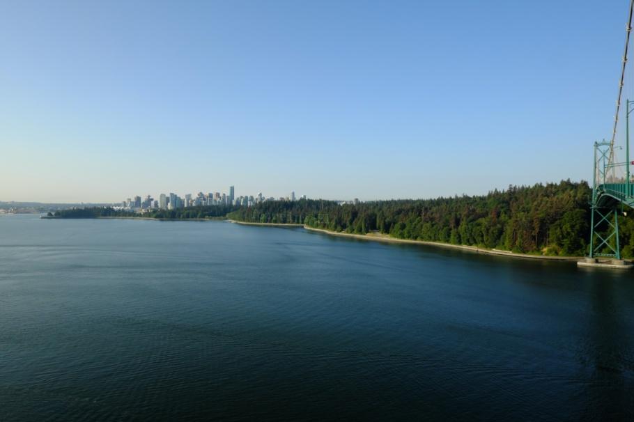 First Narrows, Lions Gate Bridge, Burrard Inlet, Salish Sea, North Vancouver, Stanley Park, Vancouver, BC, Canada, fotoeins.com, Ektachrome 100SW