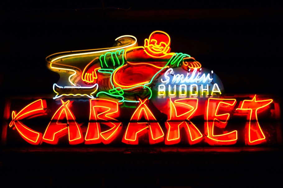Smilin' Buddha Cabaret club, neon sign, Museum of Vancouver, Vancouver, BC, Canada, fotoeins.com