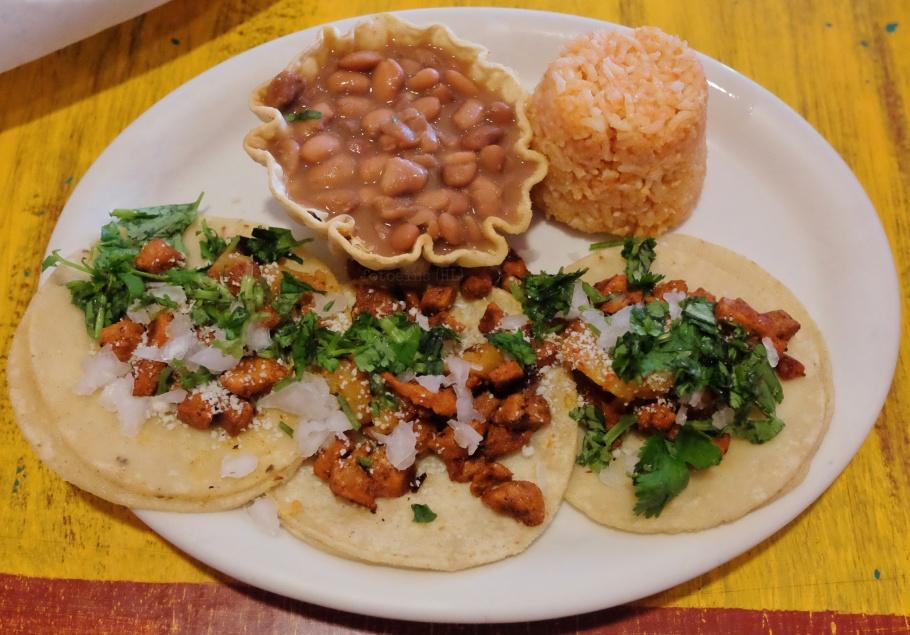 Tacos al pastor, Posas El Merendero, Santa Fe, NM, USA, fotoeins.com
