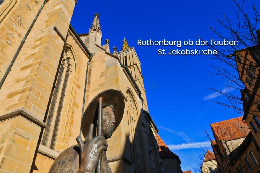 St. Jakobskirche, Rothenburg ob der Tauber, Middle Franconia, Mittelfranken, Bayern, Bavaria, Germany, fotoeins.com