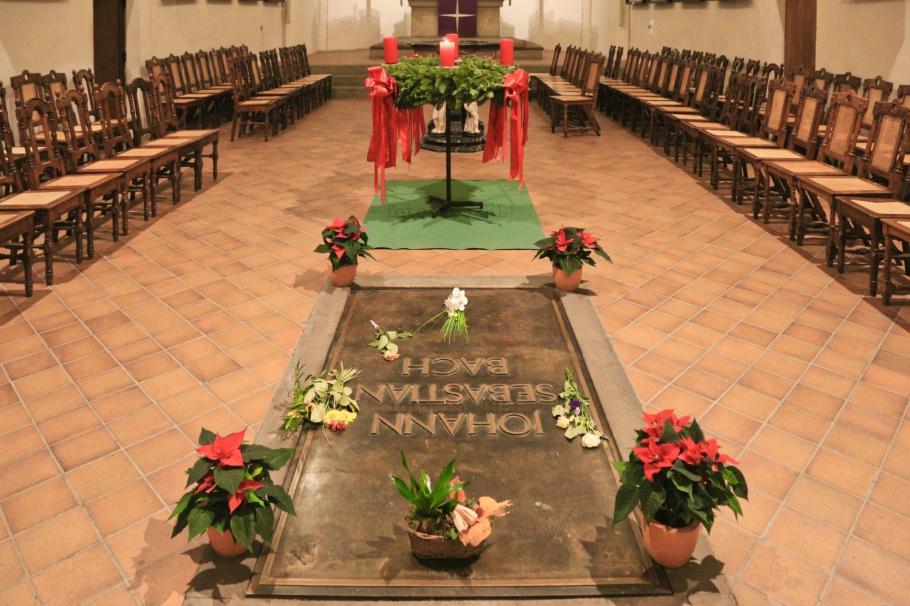 Johann Sebastian Bach, Thomaskirche, St. Thomas Church, Leipzig, Sachsen, Saxony, Germany, Deutschland, fotoeins.com