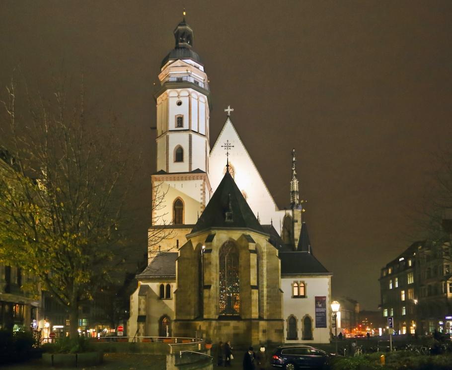 Thomaskirche, St. Thomas Church, Thomaskirchhof, Leipzig, Sachsen, Saxony, Germany, Deutschland, fotoeins.com